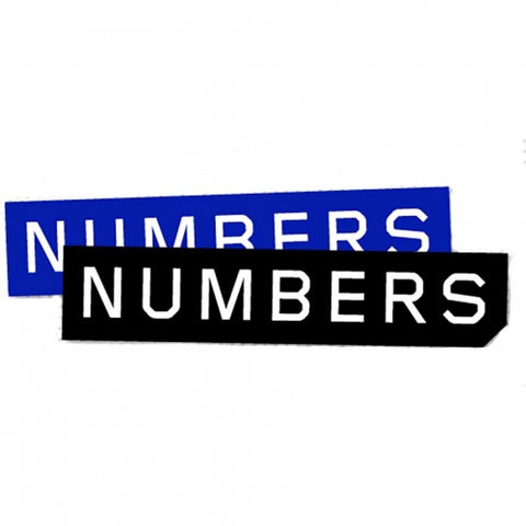 Numbers Mitered Logo Stickers