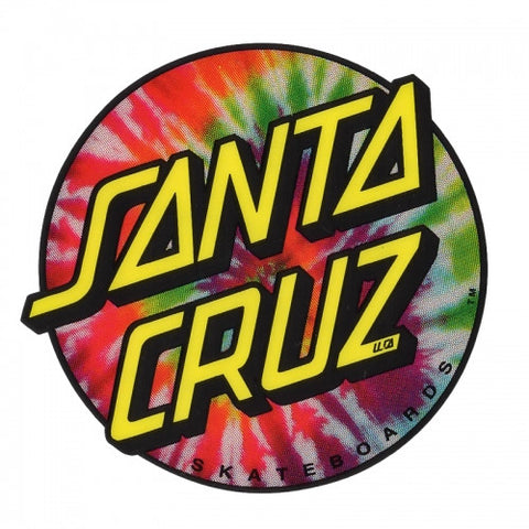 Santa Cruz Tie Dye Dot Sticker 3""