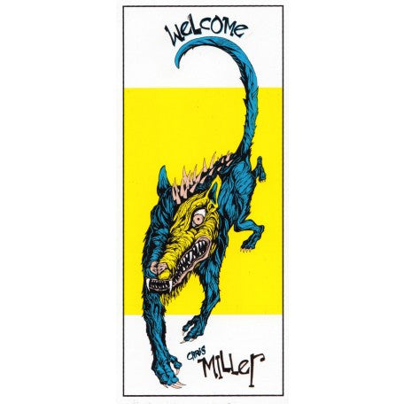Welcome Miller Beast Sticker White/Yellow 5.5""