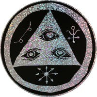 Welcome Large Talisman Sticker Black/Holographic