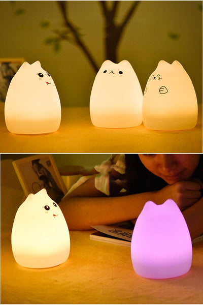 Cat Silicone LED Light with Touch Sensor Fuzz Store