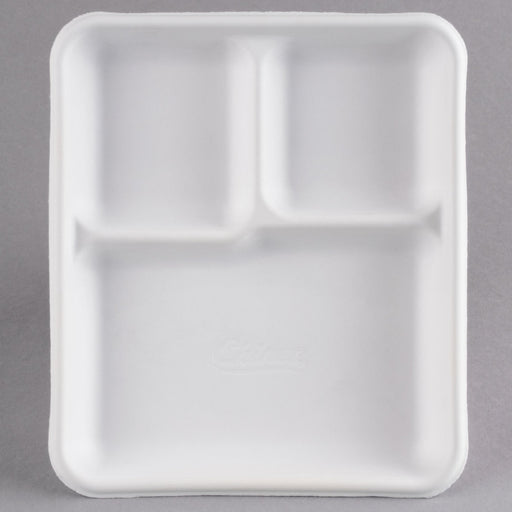 9x9 Foam Tray 3 Div 2/100. - P3, Paper Plastic Products Inc.
