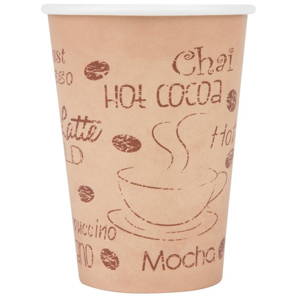 Copy of Choice 12 oz. Poly Paper Hot Cup with Cafe Design - 1000 / Case