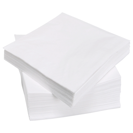 Beverage Napkins Wht 1Ply 8/500 - P3, Paper Plastic Products Inc.