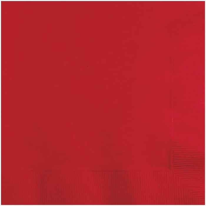 Beverage Napkins Red 2ply 4/250 - P3, Paper Plastic Products Inc.