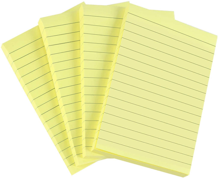 "Self Stick Notes Yellow 12/100 (4""x6"")  (35673)"
