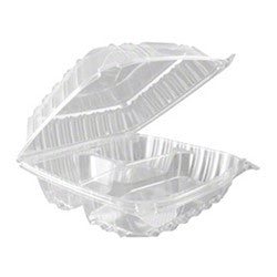 8x8 Clear Tray 3 Div 1/250 - P3, Paper Plastic Products Inc.