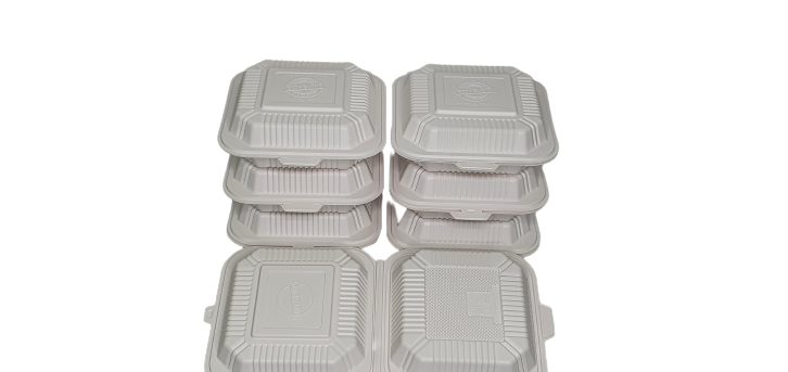 6x6x2.76 Hinged Lid Container No Comp Eco-Island EI660 4/125