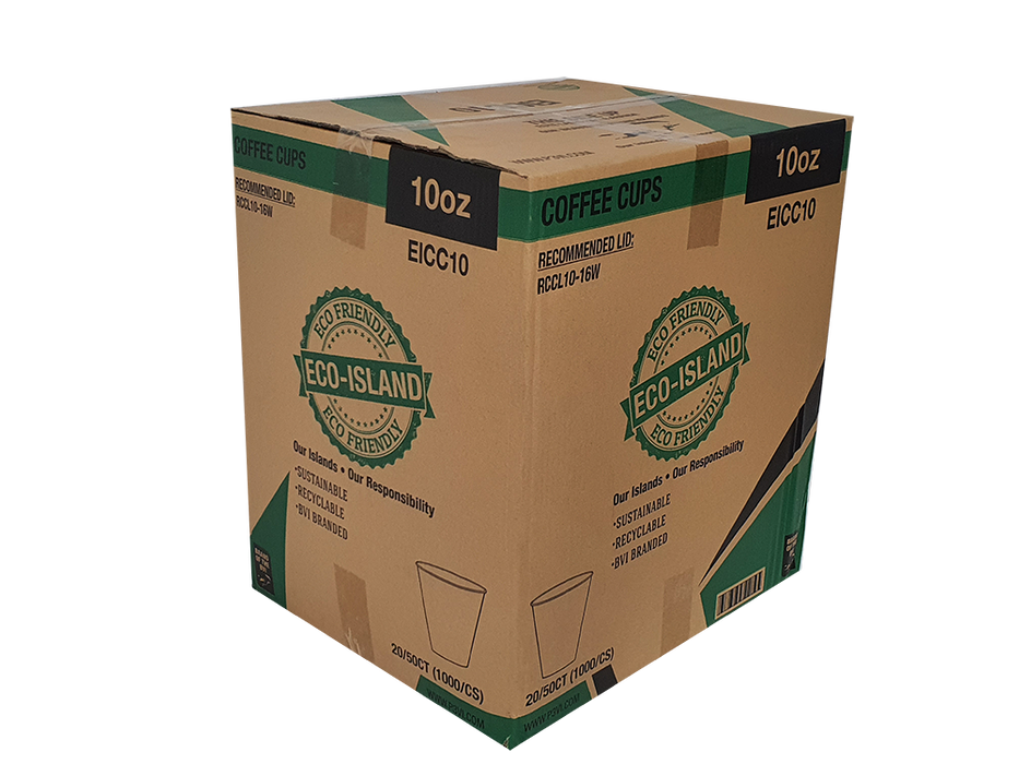 10oz Paper Coffee Cups Eco-Island EICC10 20/50