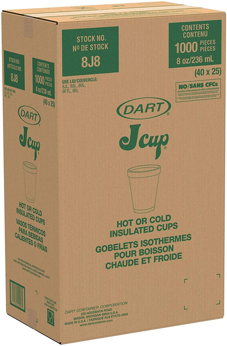 Foam Cup 8oz Dart 40/25