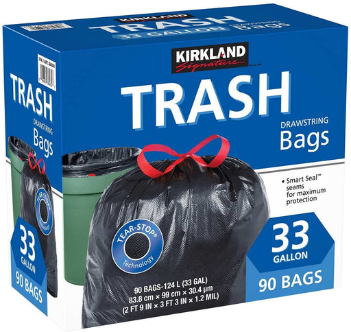Garbage Bag 33Gal Blk KS 1/90 - P3, Paper Plastic Products Inc.