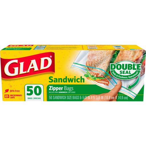Glad Sandwich Bag 12/50ct - P3, Paper Plastic Products Inc.