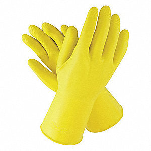 Glove Latex Yellow L 12/12 - P3, Paper Plastic Products Inc.
