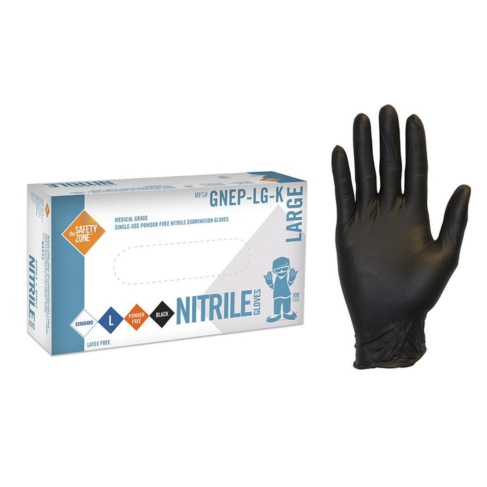 Glove Nitrile XL Black 10/100 - P3, Paper Plastic Products Inc.
