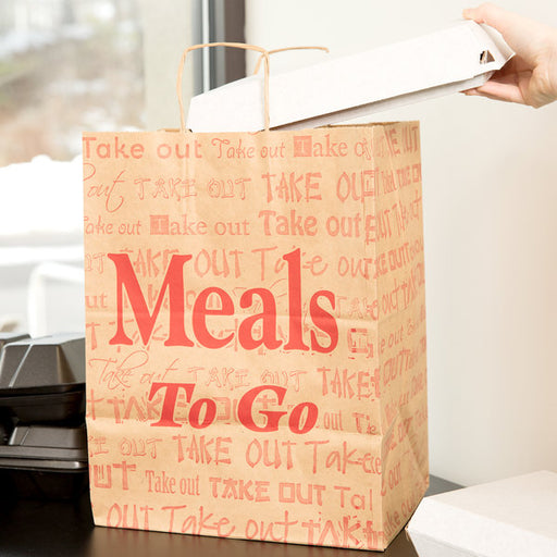 Handle Bag(Meals to go) 4/50 - P3, Paper Plastic Products Inc.
