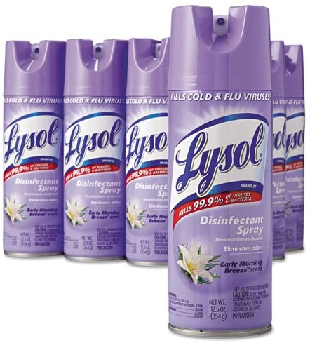 Lysol Spray Early Mor 12/12.5oz - P3, Paper Plastic Products Inc.