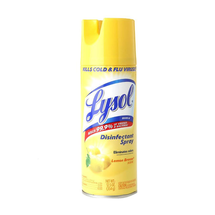 Lysol Spray Lemon 12/12.5oz - P3, Paper Plastic Products Inc.