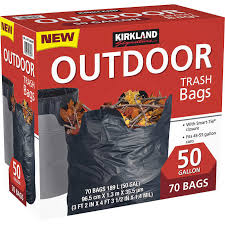 Garbage Bag 50gal Blk 1/70 KS - P3, Paper Plastic Products Inc.