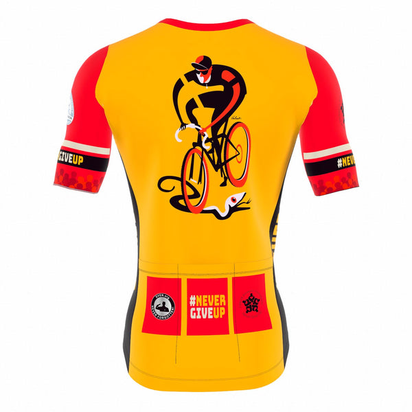 Never Give Up! - Men's Cycling Jersey