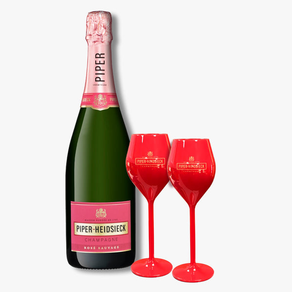 Piper-Heidsieck Rose Sauvage 2 copas