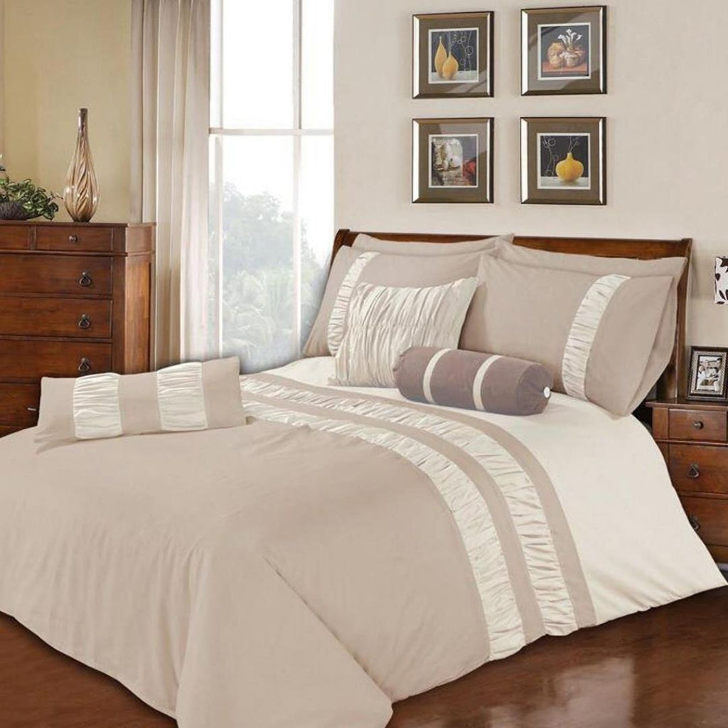 Splendid Brown Bed Set 8 Pieces