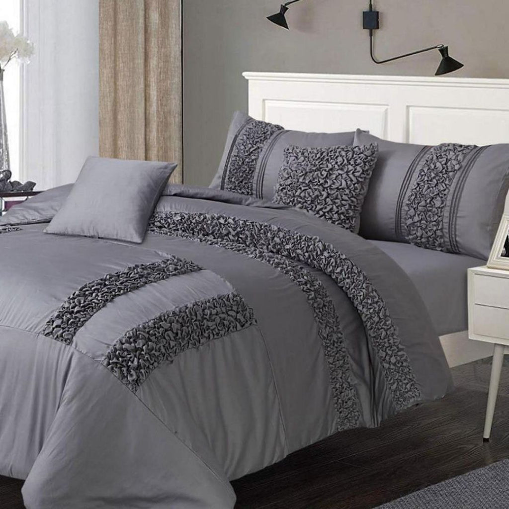8 PC's Smoky Grey Duvet set