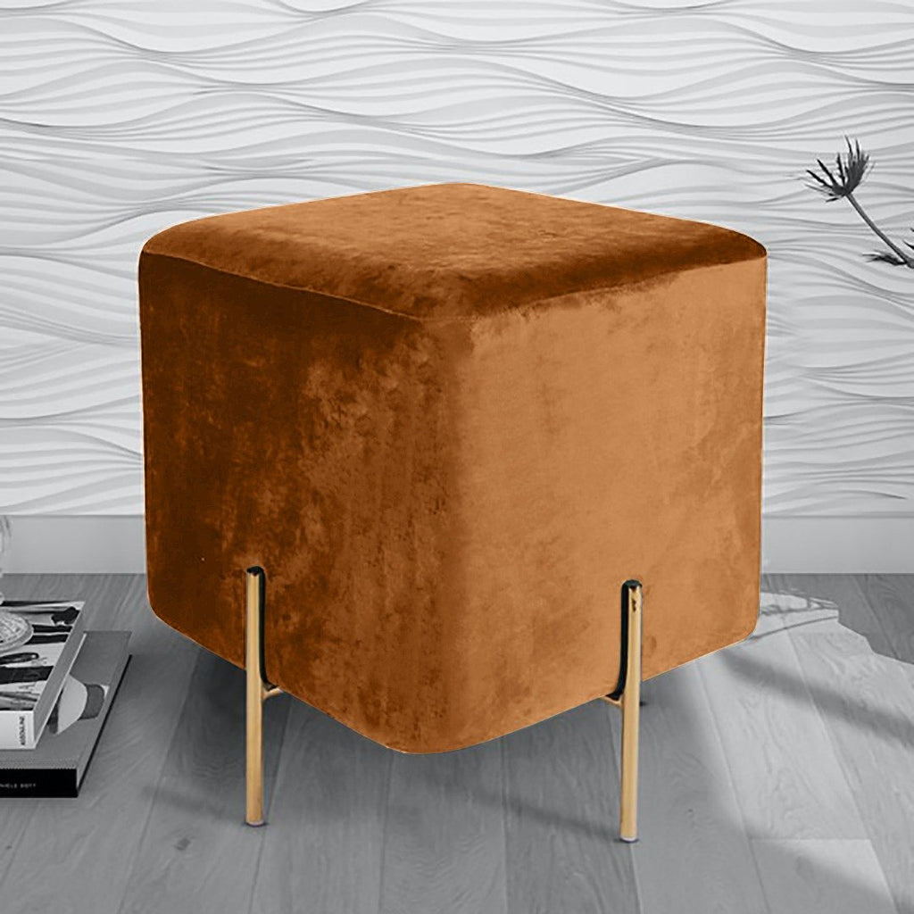 Wooden stool With Steel Stand -208