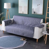 Quilted Cotton Sofa Covers Grey