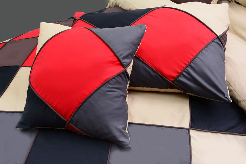 8 Pcs Chess Corded Duvet Set
