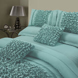 8 Pcs Embellished Comforter Set - Sea Green