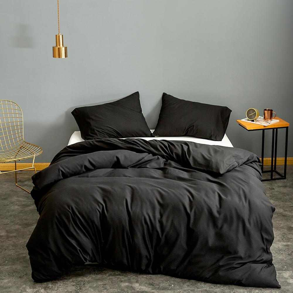 Luxury Black Duvet Set - 8 Pieces