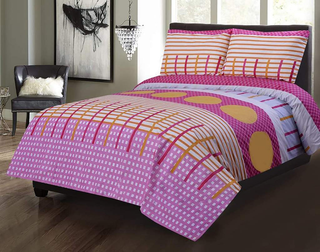 3 Pcs Printed Bed Sheet NB-00261