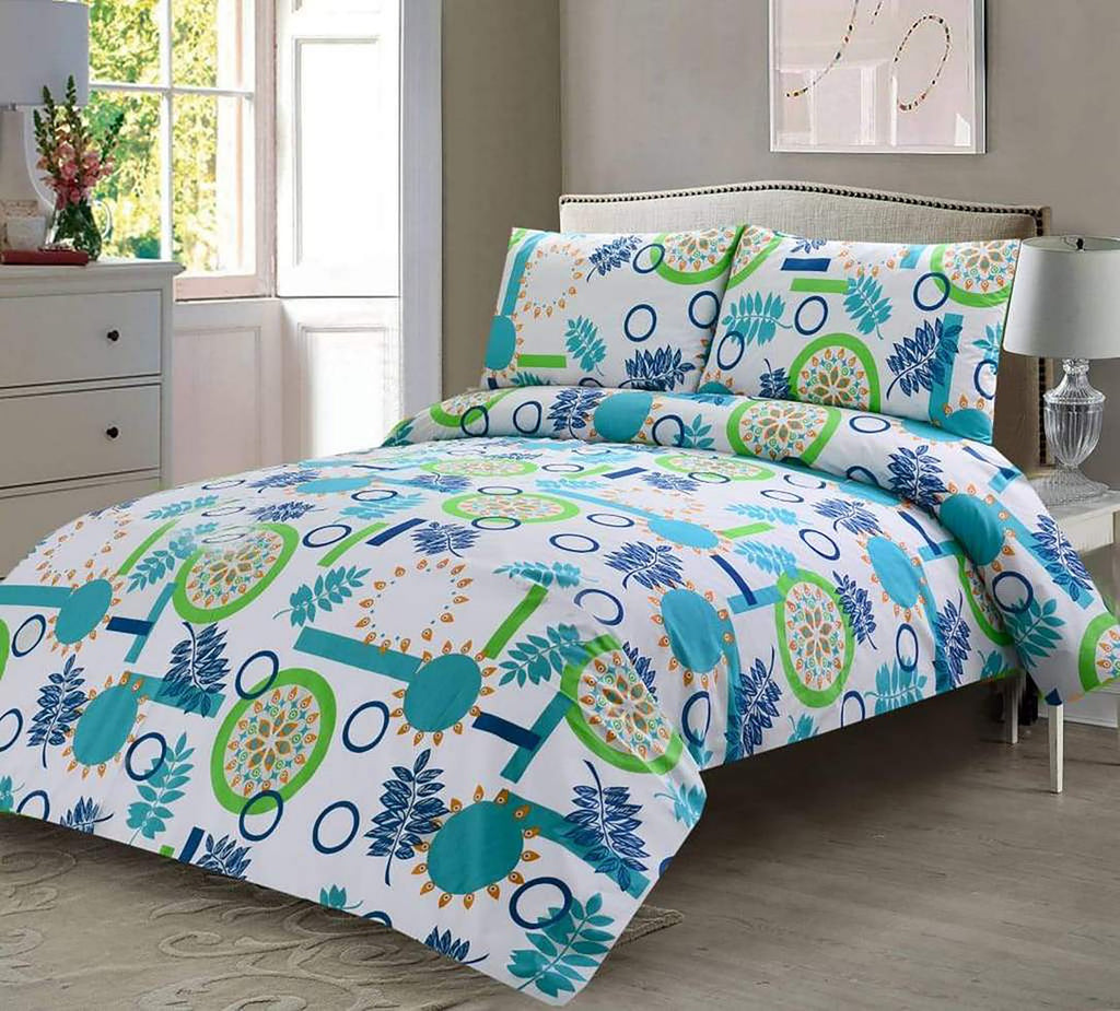 3 Pcs Printed Bed Sheet NB-00262