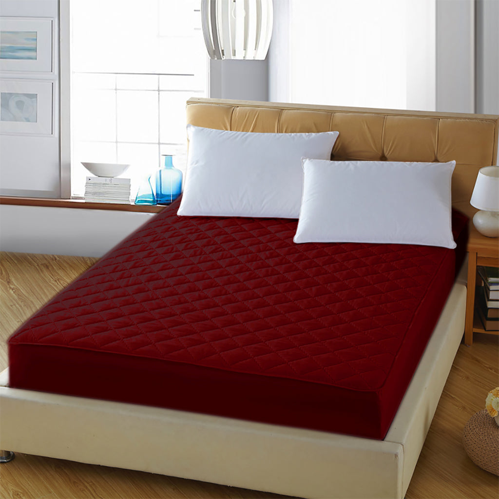 Waterproof Mattress Protector - Red