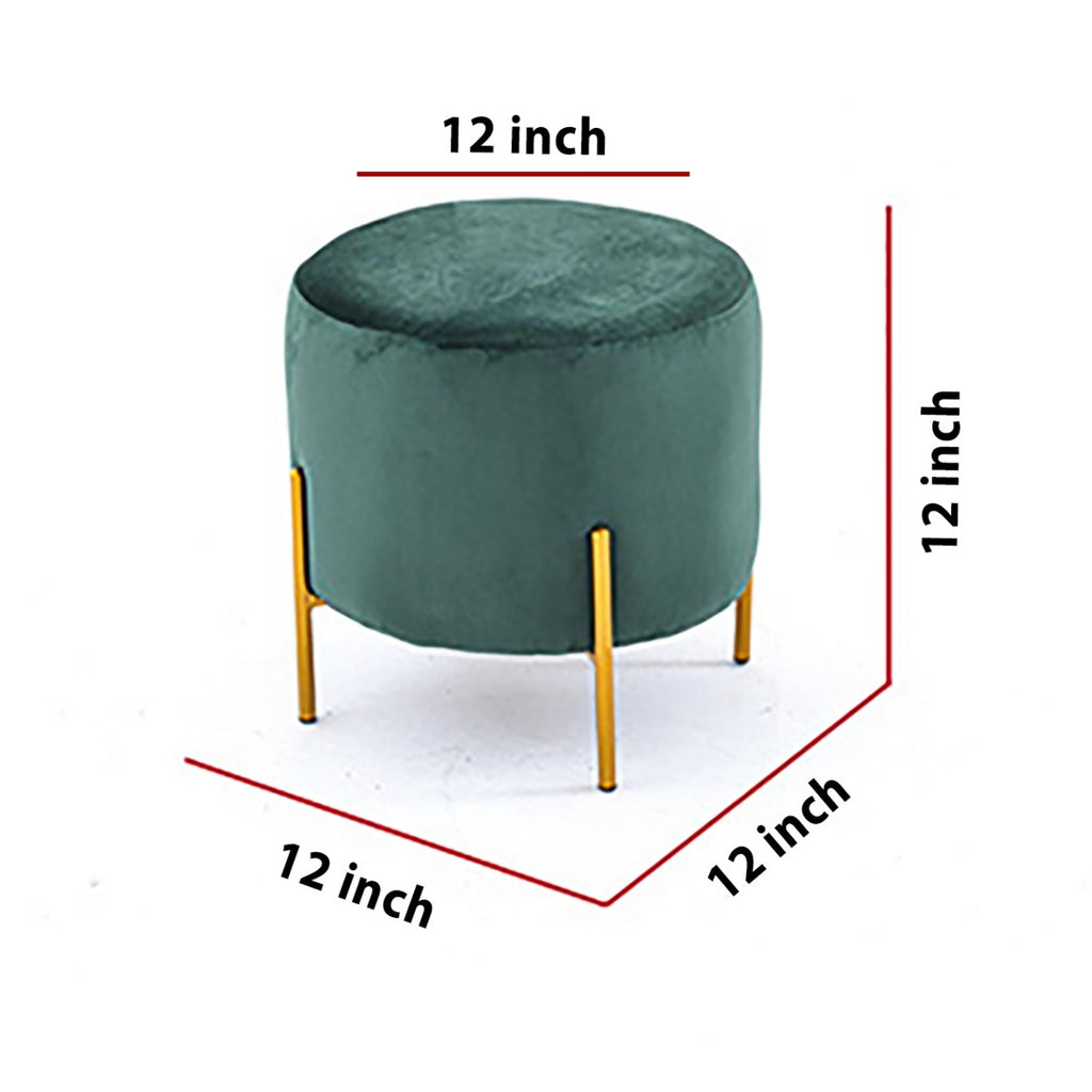Wooden stool Round shape With Steel Stand - 165