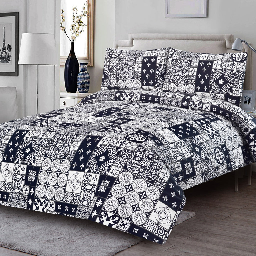 3 Pcs Printed Bed Sheet NB-00310