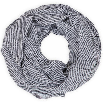 Alice Stripes Black Block Printed Scarf