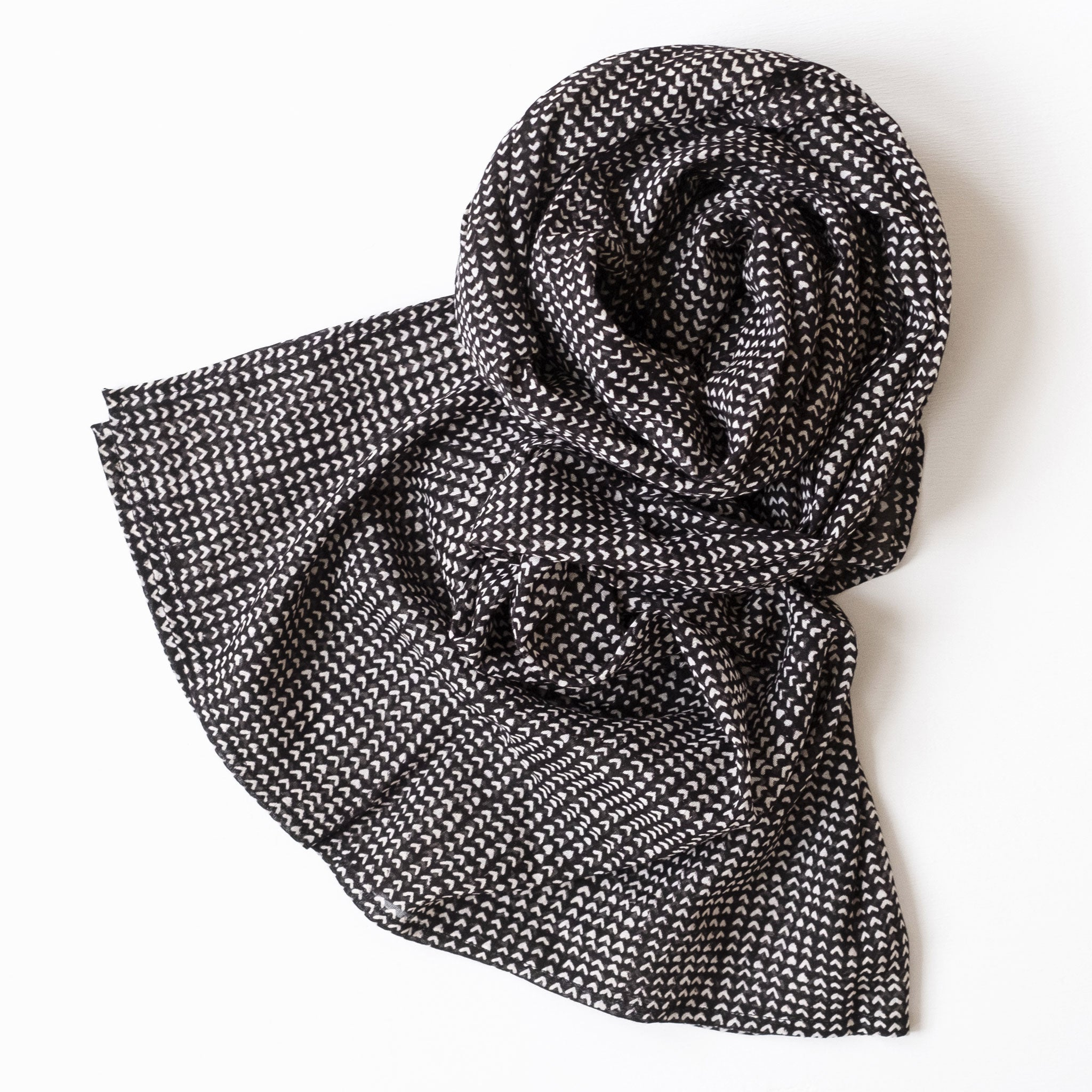 Beckett Midnight Block Printed Scarf
