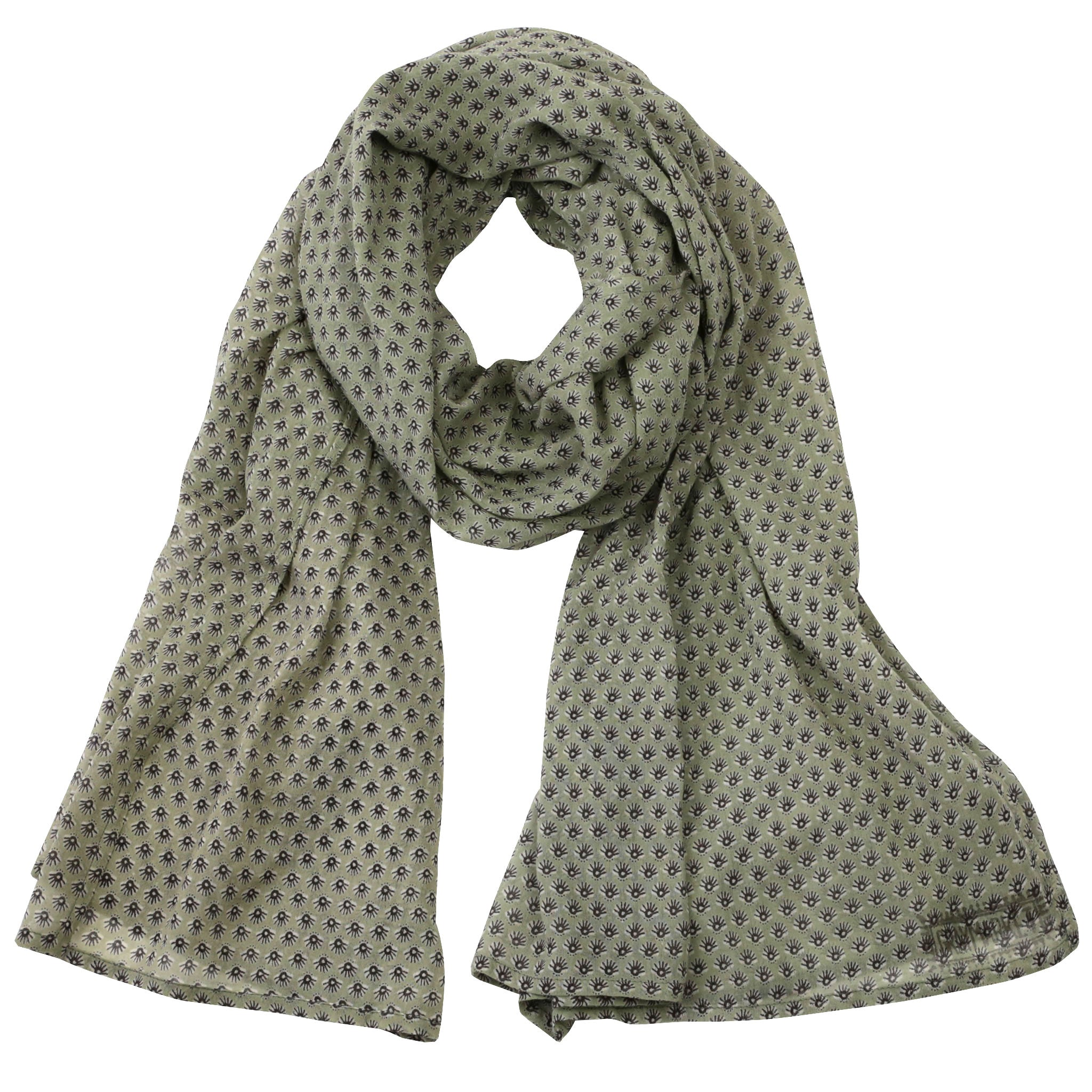 Celeste Natural Block Printed Scarf