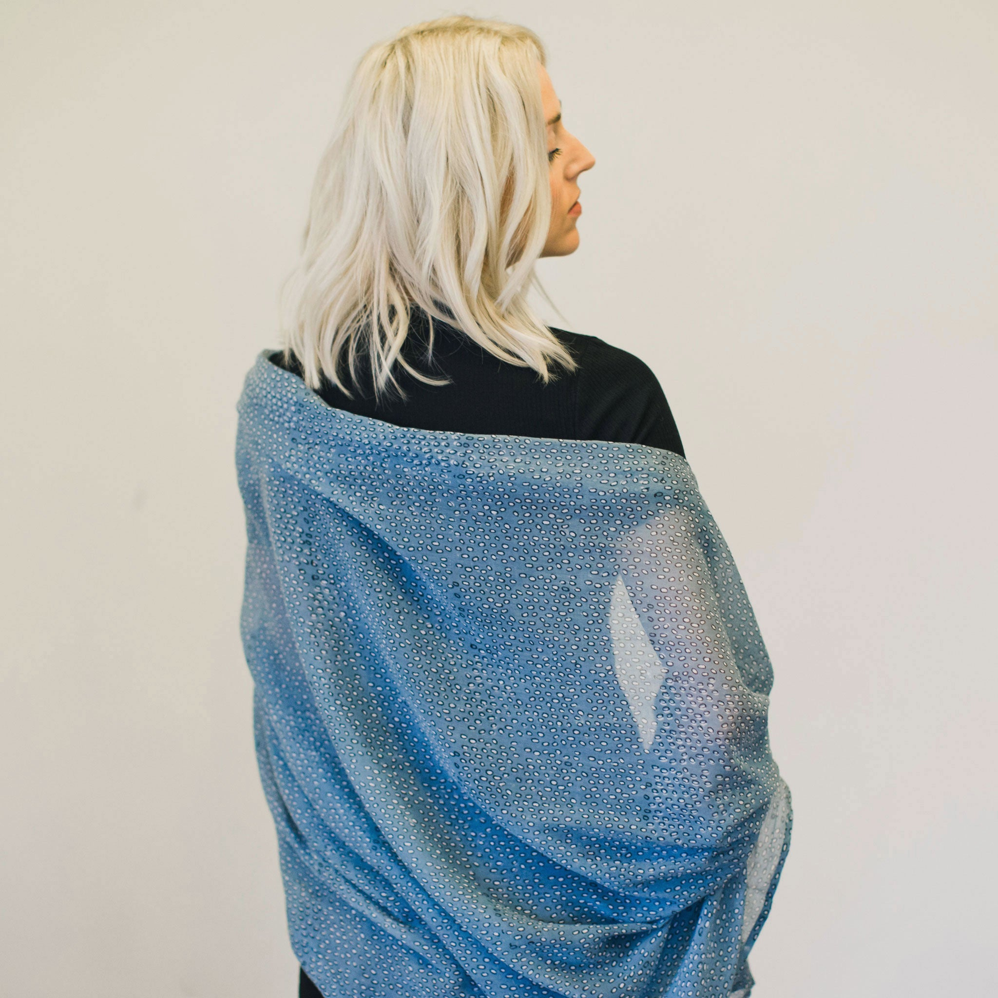 Leo Cloud Block Printed Scarf