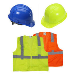 Safety Vests & Hard Hats