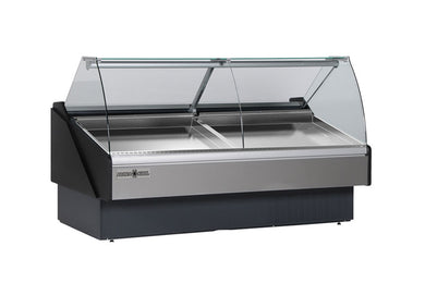 Hydra-Kool Fresh Seafood Case Curved Glass KFM-SC-80-S