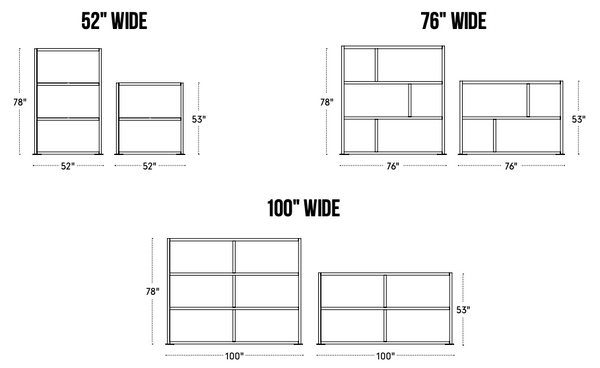 Loftwall Room Divider Space Makers dimensions