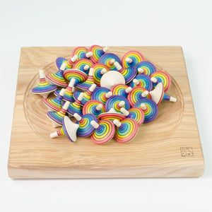 Mader Rallye Spinning Top Rainbow (Red Outside) - thetinycrate