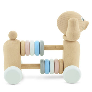 Layla - Wooden Dog with Counting Beads - thetinycrate