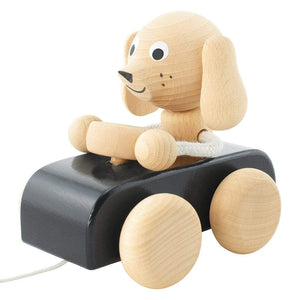 Jude - Wooden Pull Along Dog - thetinycrate