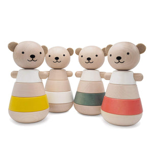 Wooden Stacking Bear Green - thetinycrate