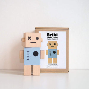 Wooden Robot Blue - thetinycrate