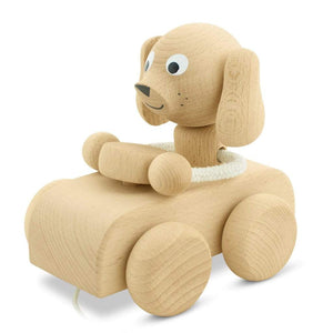 Cedric - Wooden Pull Along Dog Miva Vacov
