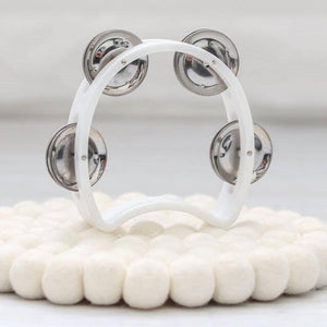 Mini White Tamborine